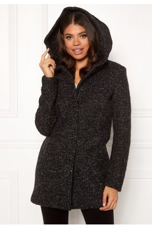 Only Sedona Boucle Wool Coat Black XS