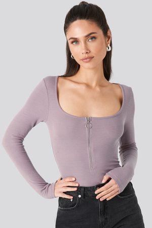 NA-KD Long Sleeve Zipped Top