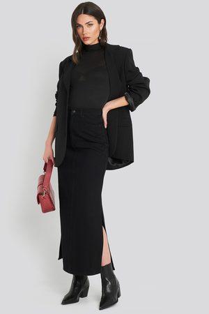 NA-KD Trend Side Split Maxi Denim Skirt