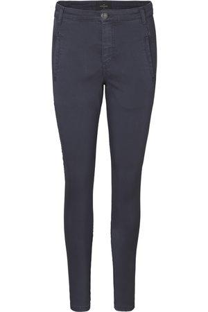 Stor Blå smale bukser til dame, sammenlign priser og kjøp på