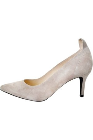 Front Society Nude Suede Pumps