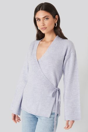 NA-KD Overlap Wide Sleeve Knitted Sweater