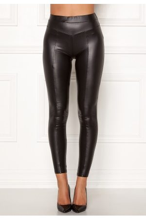 Ax Paris Faux Leather PU Leggings Black S/M