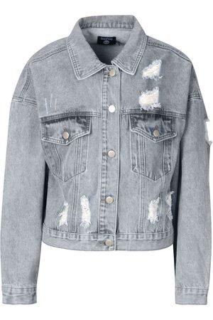 Boohoo Acid Wash Distressed Denim Jacket