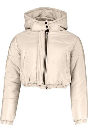 Boohoo Hooded Crop Puffer