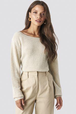 NA-KD Dame Strikkegensere - Boat Neck Knitted Sweater