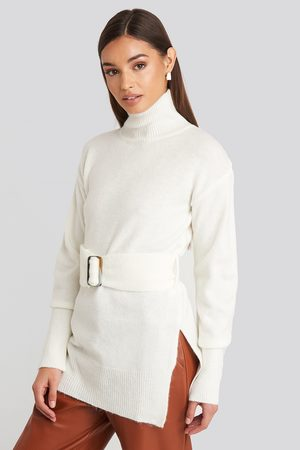 NA-KD Buckle Belt Knitted Sweater