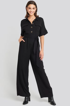 NA-KD Dame Jumpsuits - Chest Pocket Buttoned Jumpsuit