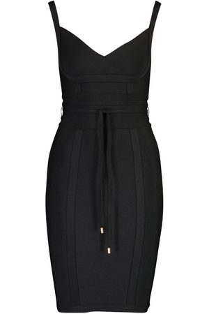 Boohoo Dame Bodycon kjoler - Boutique Bandage Tie Detail Mini Dress