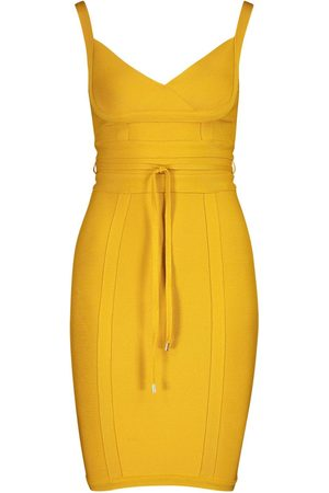 Boohoo Boutique Bandage Tie Detail Mini Dress