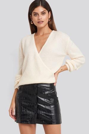 NA-KD Dame Miniskjørt - Embossed Croco Pu Mini Skirt
