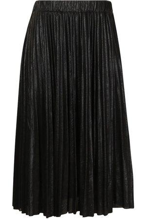 Boohoo Plus Metallic Pleated Midi Skirt
