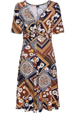 bonprix Jerseykjole med trykk og drapering: Must Have