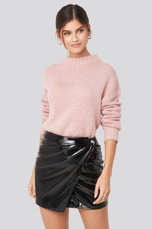 Adorable Caro x NA-KD Patent Overlap Mini Skirt
