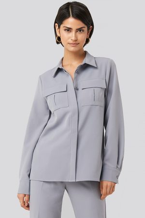 NA-KD Straight Fitted Overshirt
