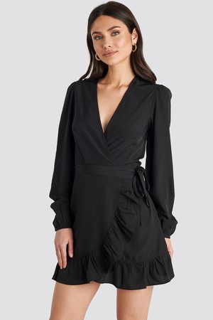 NA-KD Dame Festkjoler - Wrapped Flounce Mini Dress