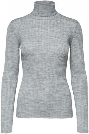 Selected Dame Pologensere - Costa LS Knit Rib Rollneck