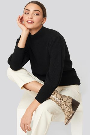 NA-KD Dame Gensere - Wide Cuff Balloon Sleeve Knitted Sweater