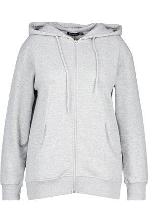 Boohoo Plus Basic Oversized Zip Through Hoody
