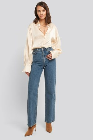 NA-KD Dame High waist - Wide Leg Highwaisted Denim
