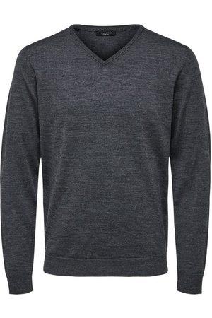 Selected Knitted Pullover Merino wool V-neck