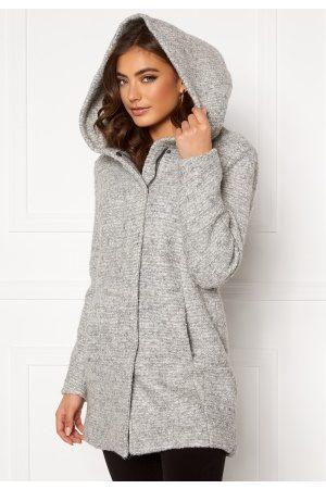 ONLY Dame Ullkåper - Sedona Boucle Wool Coat Light Grey Melange XS
