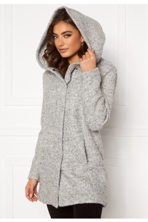 Only Sedona Boucle Wool Coat Light Grey Melange XS