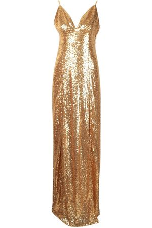 Boohoo Tall Plunge Sequin Maxi Dress