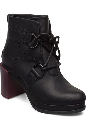 sorel Dame Skoletter - Margo Lace-Up Bootie Shoes Boots Ankle Boots Ankle Boots With Heel Svart