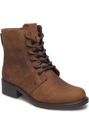 Clarks Dame Skoletter - Orinoco Spice Shoes Boots Ankle Boots Ankle Boots Flat Heel