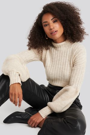 Trendyol High Neck Puff Sleeve Knitted Sweater