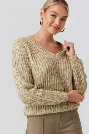 NA-KD Multi Color V-neck Knitted Sweater