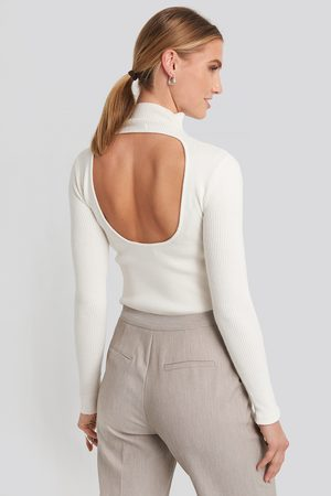 NA-KD Open Back High Neck Knitted Sweater