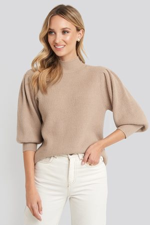 NA-KD Wide Cuff Balloon Sleeve Knitted Sweater