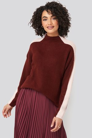 Trendyol High Neck Color Block Knitted Sweater