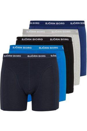 Björn Borg Shorts Solid 5-Pack Boxershorts Blue Depths