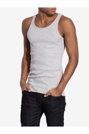 Bread & Boxers Ribbed Tank Top T-skjorter og singleter Grey Melange