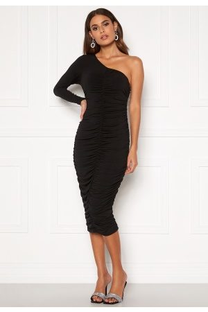 Ax Paris One Shoulder Midi Dress Black XS (UK8)