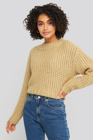 NA-KD Dame Gensere - Heavy Knitted Wide Rib Sweater