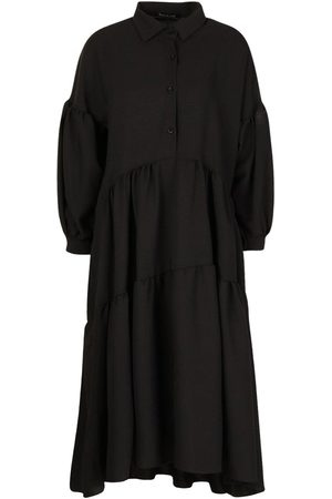 Boohoo Oversized Tiered Maxi Shirt Dress
