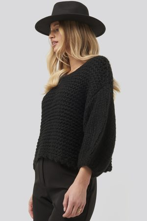 NA-KD Heavy Knitted Short Sleeve Sweater