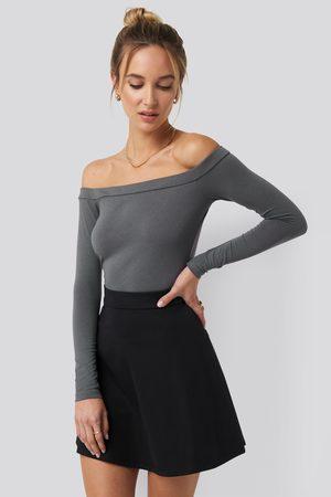 NA-KD Dame Langermede - Long Sleeve Bardot Top