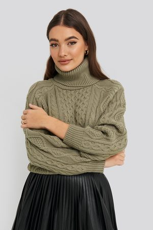 NA-KD High Neck Cable Knitted Sweater