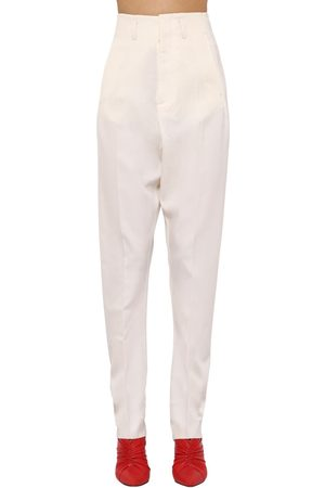 Isabel Marant Amaya Straight Leg Wool Blend Pants