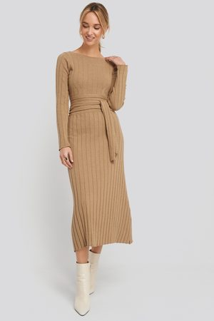NA-KD Recycled Ribbed Knit Midi Skirt