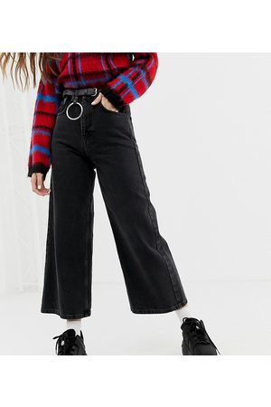 Reclaimed The '93 wide leg jeans in washed black