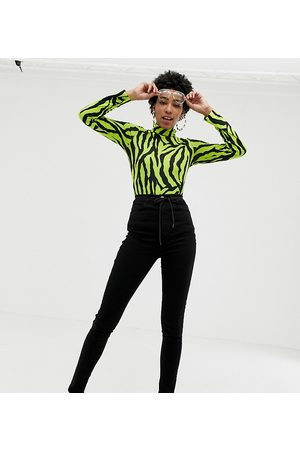 COLLUSION Tall x001 skinny jeans in black