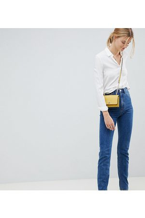 ASOS ASOS DESIGN Tall Recycled Farleigh high waisted slim mom jeans in flat blue