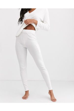 ASOS Lounge premium knitted jogger with pockets-White