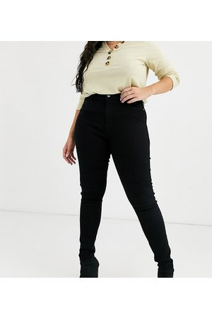 Only High waisted skinny jean in black wash